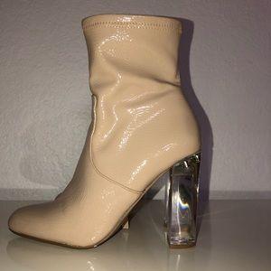 Steve Madden Nude Sock Boots